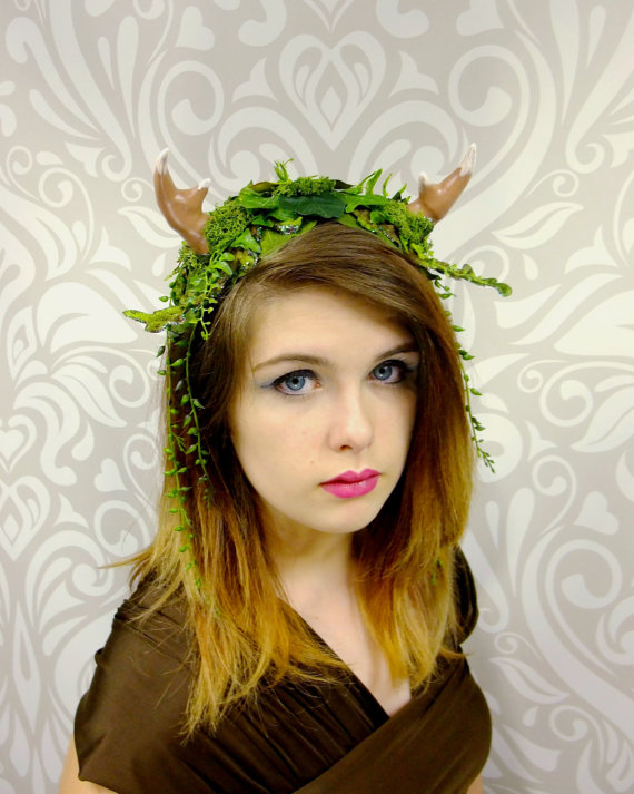 Greenman Fawn Vines Fantasy